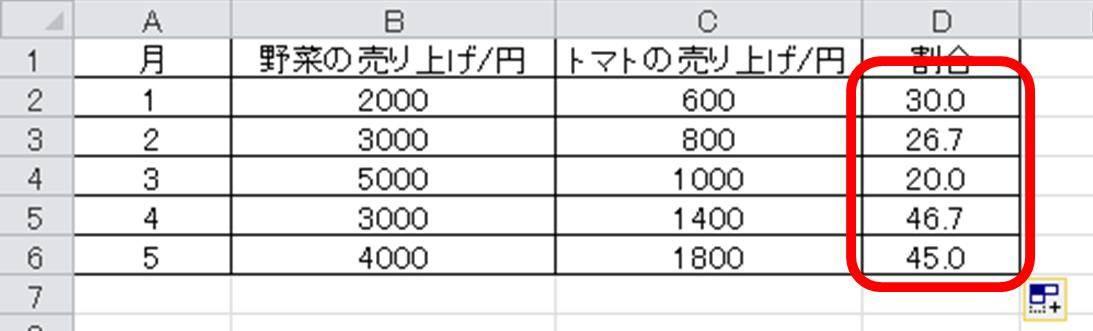 パーセント 計算 エクセル